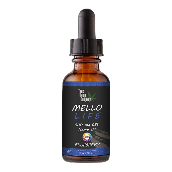 THC Full Spectrum CBD Oil 30 mg per serving Blueberry 2 ounce