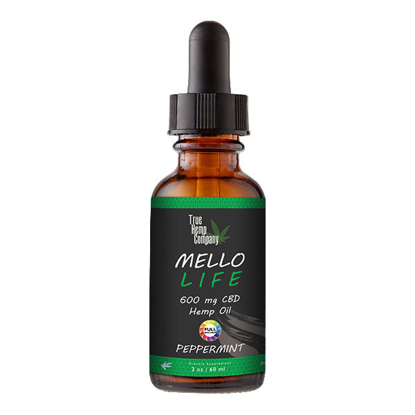 THC Full Spectrum CBD Oil 30 mg per serving Peppermint 2 ounce