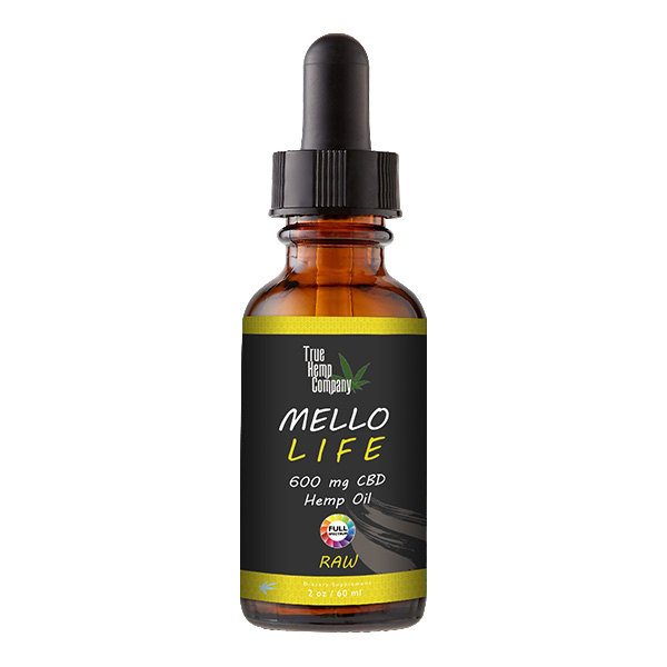 THC Full Spectrum CBD Oil 30 mg per serving Raw 2 ounce